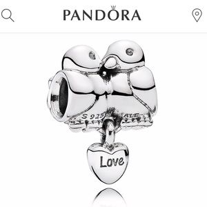 Pandora love birds charm